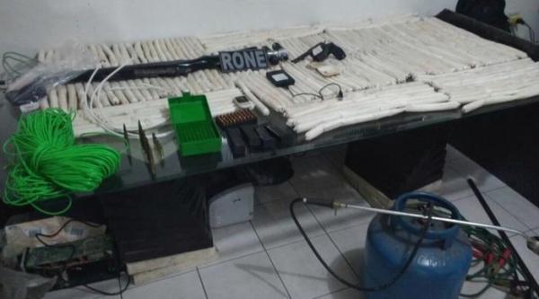 Advogado é preso com explosivos dentro de oficina em Teresina