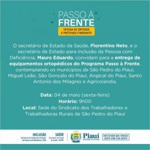 Programa Passo a Frente chega a São Pedro do Piauí