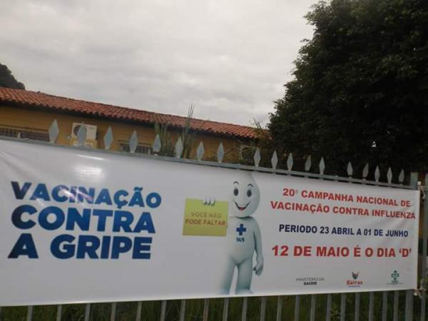 20ª Campanha Nacional de Vacinação Contra a Influenza em Barras PI
