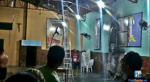 Incêndio atinge centro paroquial em Piripiri