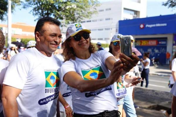 Deputado federal Fábio Abreu participou da 23° Caminhada da Fraternidade