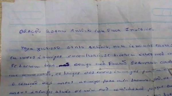 Ladrão é preso com oração a Santo Antônio para ficar invisível em SP