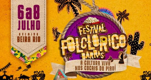 Inscrições para o Festival Folclórico de Barras abrirão na quarta-feira (20). Baixe o regulamento e a ficha de inscrição aqui.