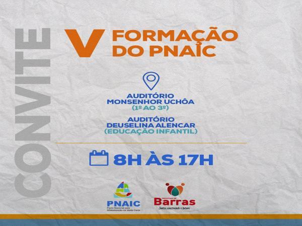 Secretaria de educação de Barras PI realiza V formação do PNAIC
