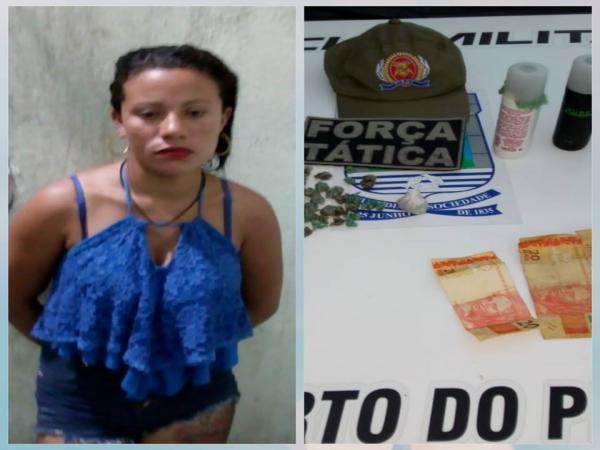 Mulher é presa acusada de tráfico de drogas em Porto PI