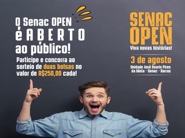 Vem aí, Senac Open! dia 03 de Agosto em Barras