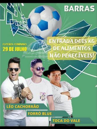 Toca do Vale, Léo Cachorro e Forró Blue fazem show solidário em Barras PI