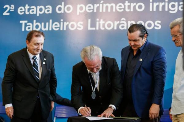 Michel Temer assina ordem de serviço de 54 milhões para os Tabuleiros Litorâneos