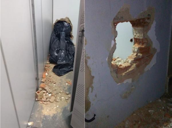 Bandidos fogem sem levar dinheiro após arrombar banco em Elesbão Veloso