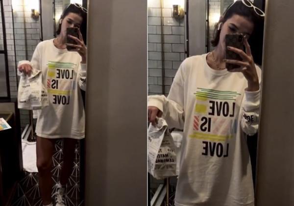 Bruna Marquezine vai buscar comida de pijama nas ruas de Nova York: 'Ninguém nem te olha'