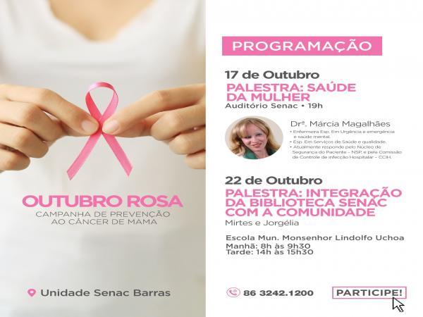 Senac Realizará Palestra em Alusão ao Outubro Rosa