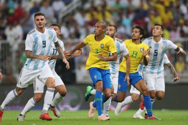 Brasil vence Argentina por 1 a 0