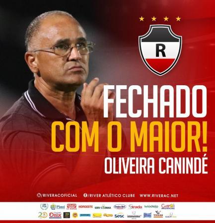 River anuncia Oliveira Canindé como treinador e novo gerente de futebol