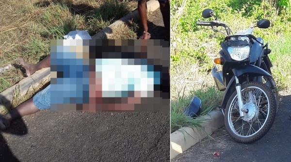 Colisão entre motocicleta e veículo deixa idoso ferido na BR-343
