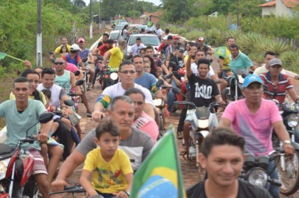 Matias Olímpio faz manifestação a favor de Bolsonaro