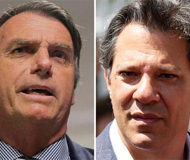 A um dia da decisão, Bolsonaro fica no Rio e Haddad em São Paulo