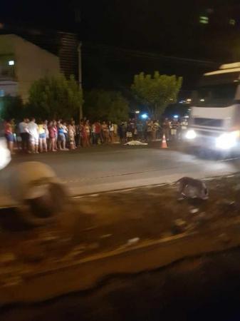 Ciclista morre atropelado por caminhão em Picos