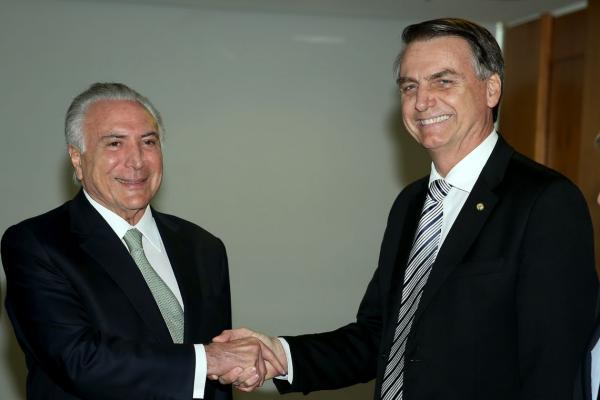 Bolsonaro diz que Muita Coisa do governo Temer vai ser mantida