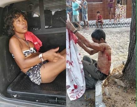 Homem com deficiência mental é esfaqueado por mulher em Parnaíba