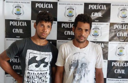 Dupla é presa suspeita de furtar material do estádio de José de Freitas