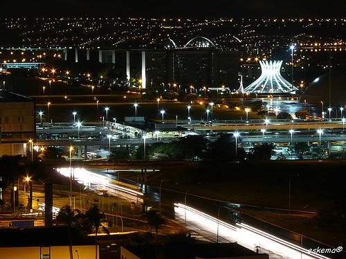 Brasília DF uma cidade segura e linda à noite