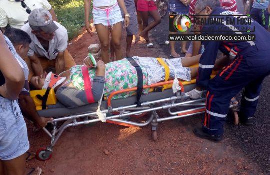 Casal fica gravemente ferido durante acidente na PI-113 em José de Freitas