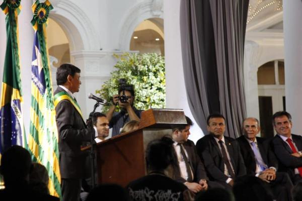 Deputado federal Fábio Abreu participou da posse do governador Wellington Dias