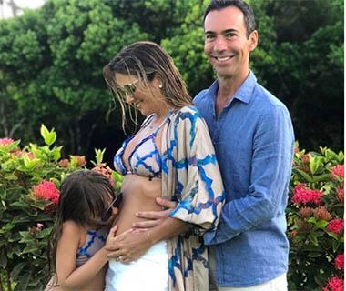 Ticiane Pinheiro e César Tralli revelam sexo do primeiro filho