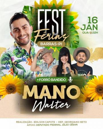 Mano Walter faz show em Barras PI no Fest Férias no Barras clube