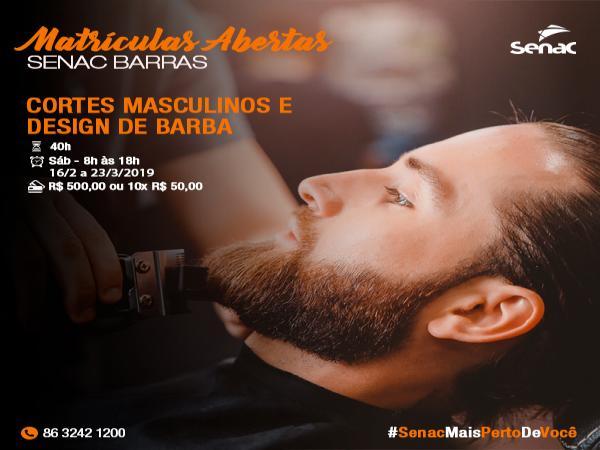 Curso: Cortes Masculinos e Design de Barba