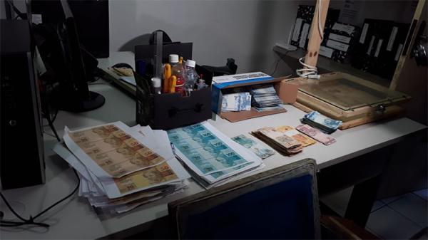 PM estoura laboratório de dinheiro falso na cidade de Parnaíba