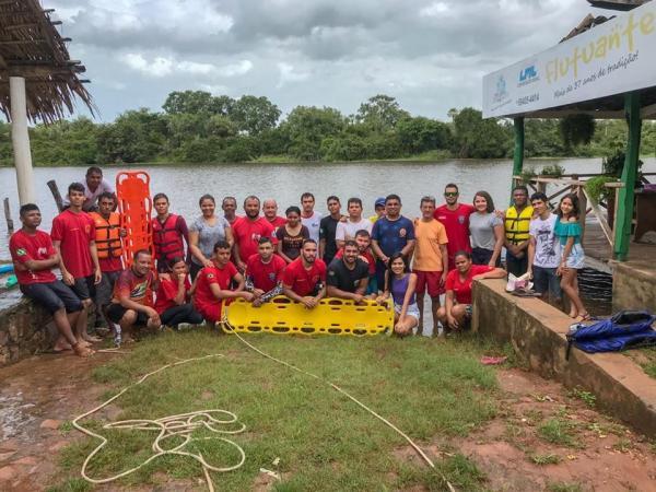 Grupo de Resgate Voluntário de Barras realizou o workshop de emergências aquáticas