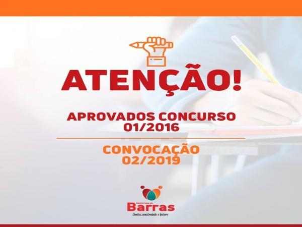Governo de Barras PI convoca mais aprovados do Concurso Público 2016