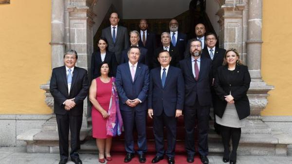 Chanceleres Grupo de Lima - CancilleriaPeru/Direitos Reservados