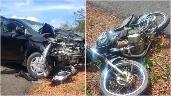 Colisão entre carro e motocicleta deixa um morto no Norte do PI