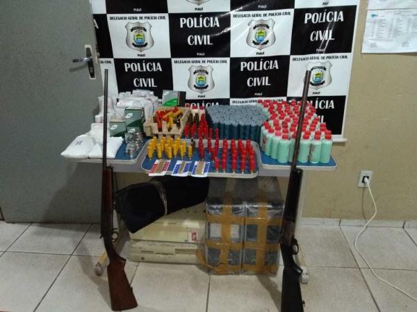 Homem é preso com munições de diversos calibre na cidade de Picos
