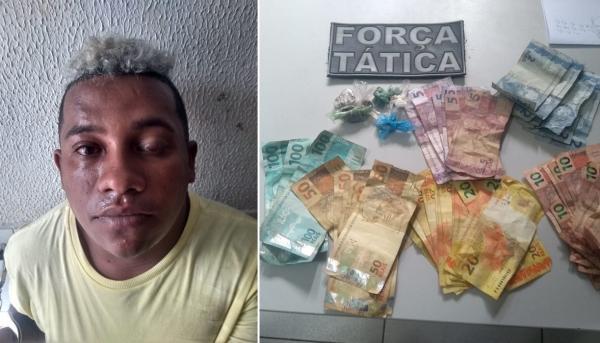 Traficante 'perigoso' é preso pela PM com drogas em Água Branca