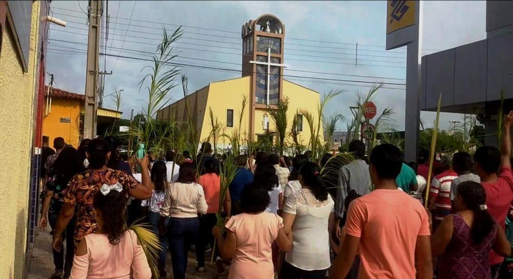 Chegada à Igreja Matriz de Nossa Senhora da Conceição