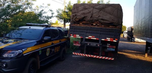 Foto: PRF - Polícia Rodoviária Federal apreende 25 mil Kg de madeira ilegal na BR-316